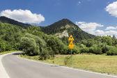 Landscapes of Poland. Road in Polish mountains - Pieniny. — Stock Photo