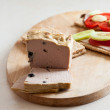 Pate & sandwiches on crispy bread — Stock Photo #32148913