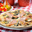Stock Photo: Pizzwith ham and other additives