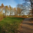 Path in the park - autumn landscape — Stock Photo