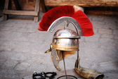 Roman legionary helmet — Stock Photo