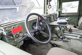 Military vehicle interior — Stock Photo