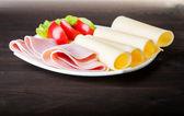 Cheese and ham — Stock Photo
