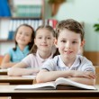 Постер, плакат: Pupils are very attentive at classes