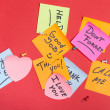 Stock Photo: Collection of adhesive notes