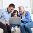 Stock Photo: Problem-free family laugh