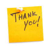 Sticker with text Thank you on it — Stock Photo
