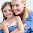 Smiley mother with her daughter — Stock Photo
