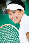成功的网球运动员近距离 — 图库照片