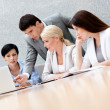 Stock Photo: Business discuss plan