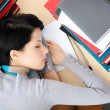 Student sleeping at the desk — Stock Photo #13192622