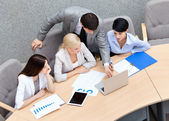 Business at the presentation — Stock Photo
