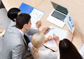 Confident business at the meeting — Stock Photo
