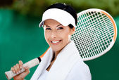 Close up of tennis player — Stock Photo