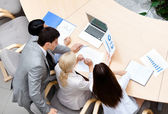 Business stuff at the meeting — Stock Photo