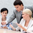 Stock Photo: Business discuss problems