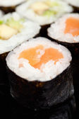 Close up view of sushi rolls — Stock Photo