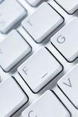 Cierre plano de teclas del teclado del ordenador portátil — Foto de Stock