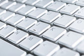 Close up of keyboard of a laptop — Stock Photo