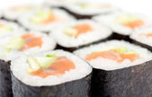 Rolled maki sushi — Stock Photo