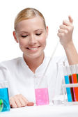 Female lab assistant — Stock Photo