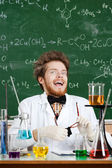 Scientist laughs madly — Stock Photo