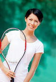 Portrait of professional tennis player — Stock Photo