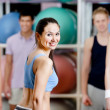 Stock Photo: Group of active at the gym