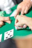 Konkurrensen mellan pokerspelare — Stockfoto