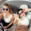 Top view of women in the cabriolet — Stock Photo