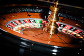 Close up view of roulette at the casino — Stock Photo