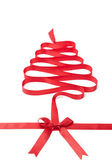The spiral ribbon looks as Christmas tree — Stock Photo