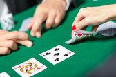Match between poker players — Stock Photo