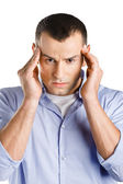 Man having headache — Stock Photo