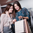Two friends buy gifts with rebate — Stock Photo #22008787