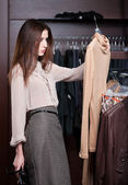 Choosing a wonderful dress — Stock Photo
