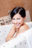 Beautiful girl takes a bath — Stock Photo