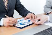 Dwie firmy omówić kwestie finansowe — Zdjęcie stockowe
