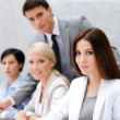 Successful business team at the seminar — Stock Photo
