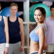 Group of at the training gym — Stock Photo