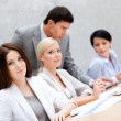 Successful business team at the meeting — Stock Photo
