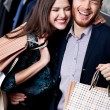 Lolling couple is in the shop — Stock Photo #24561107