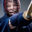 Close up of kendo fighter training with shinai — Stock Photo #26134899