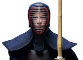 Portrét kendoka s shinai, izolované — Stock fotografie