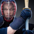 Close up of kendo fighter with shinai — Stock Photo #30932747