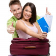 Couple with travel bags and tickets — Stock Photo #31277839