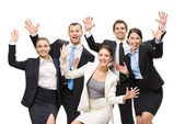 Group of glad business people — Stock Photo