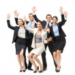 Group of happy executives — Stock Photo