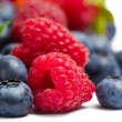 Close up view of strawberry, bilberry and raspberry — Stock Photo