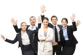 Group of happy managers — Stock Photo